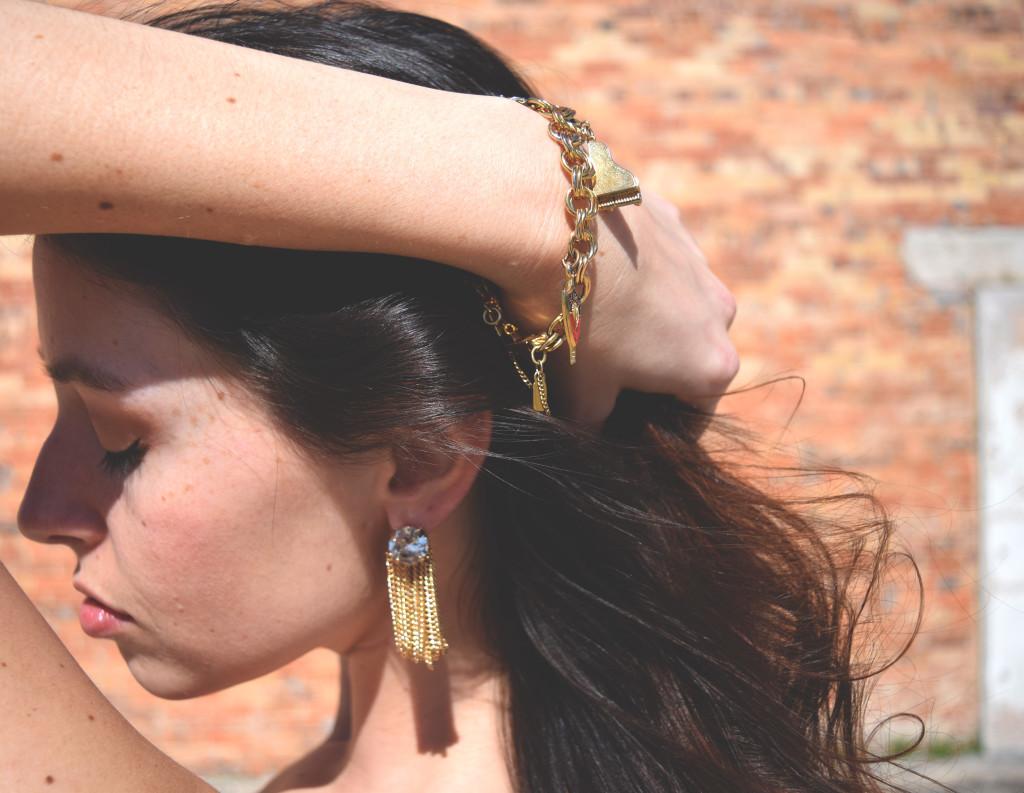 Bold, vintage looking earrings. KathrynHadel.com