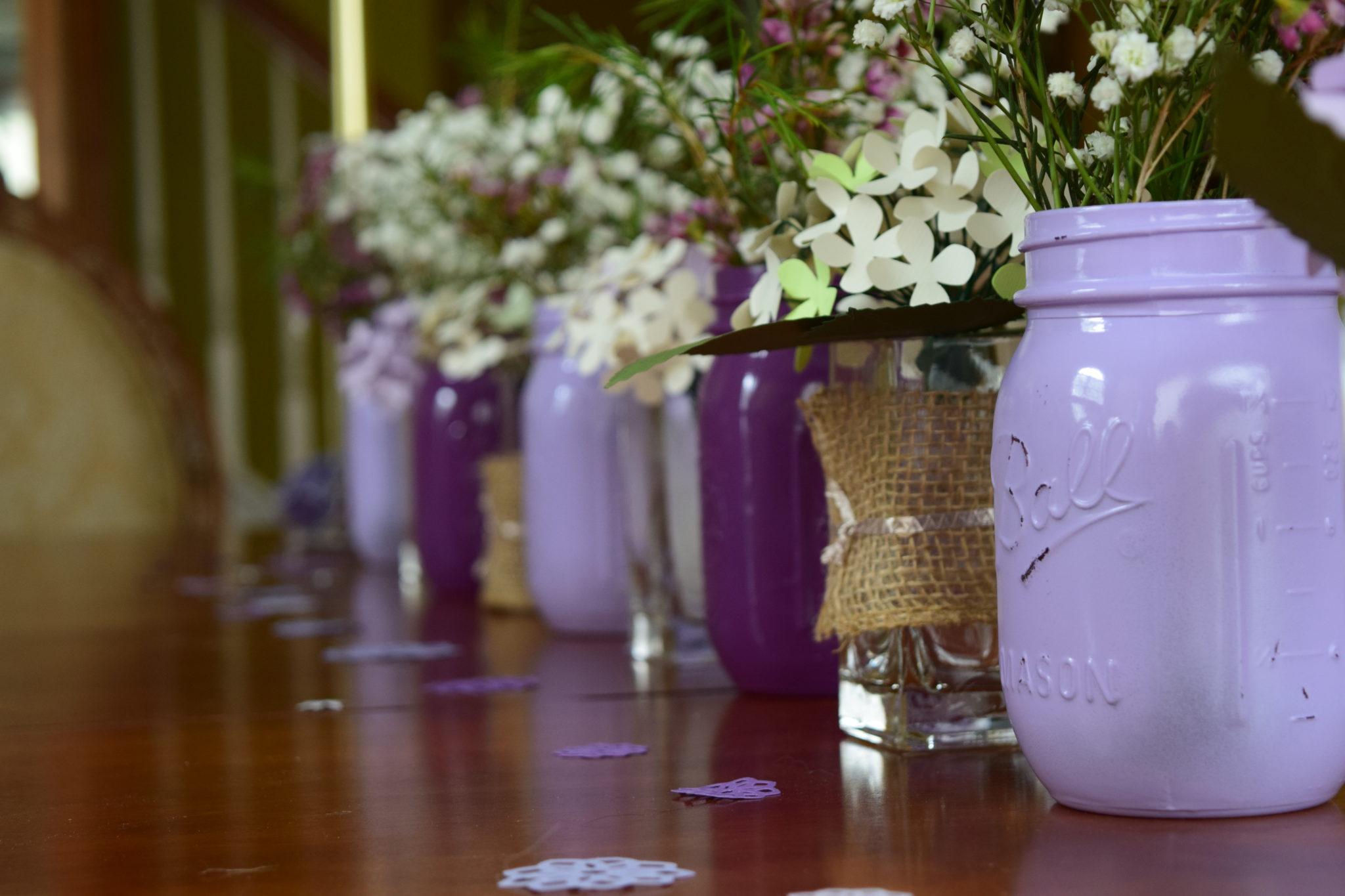 Lavender DIY Mason Jars