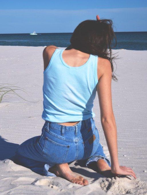 Wrangler Jeans on the Beach