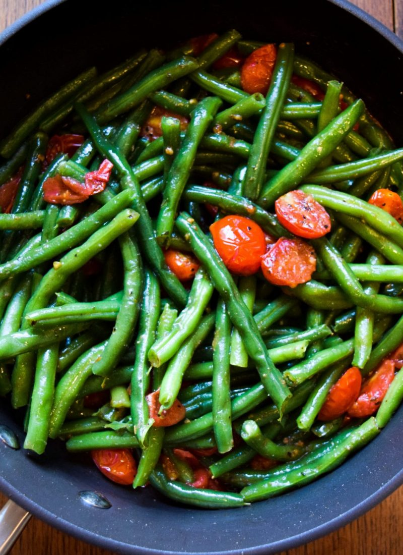 Savory Green Beans & Cherry Tomatoes Recipe