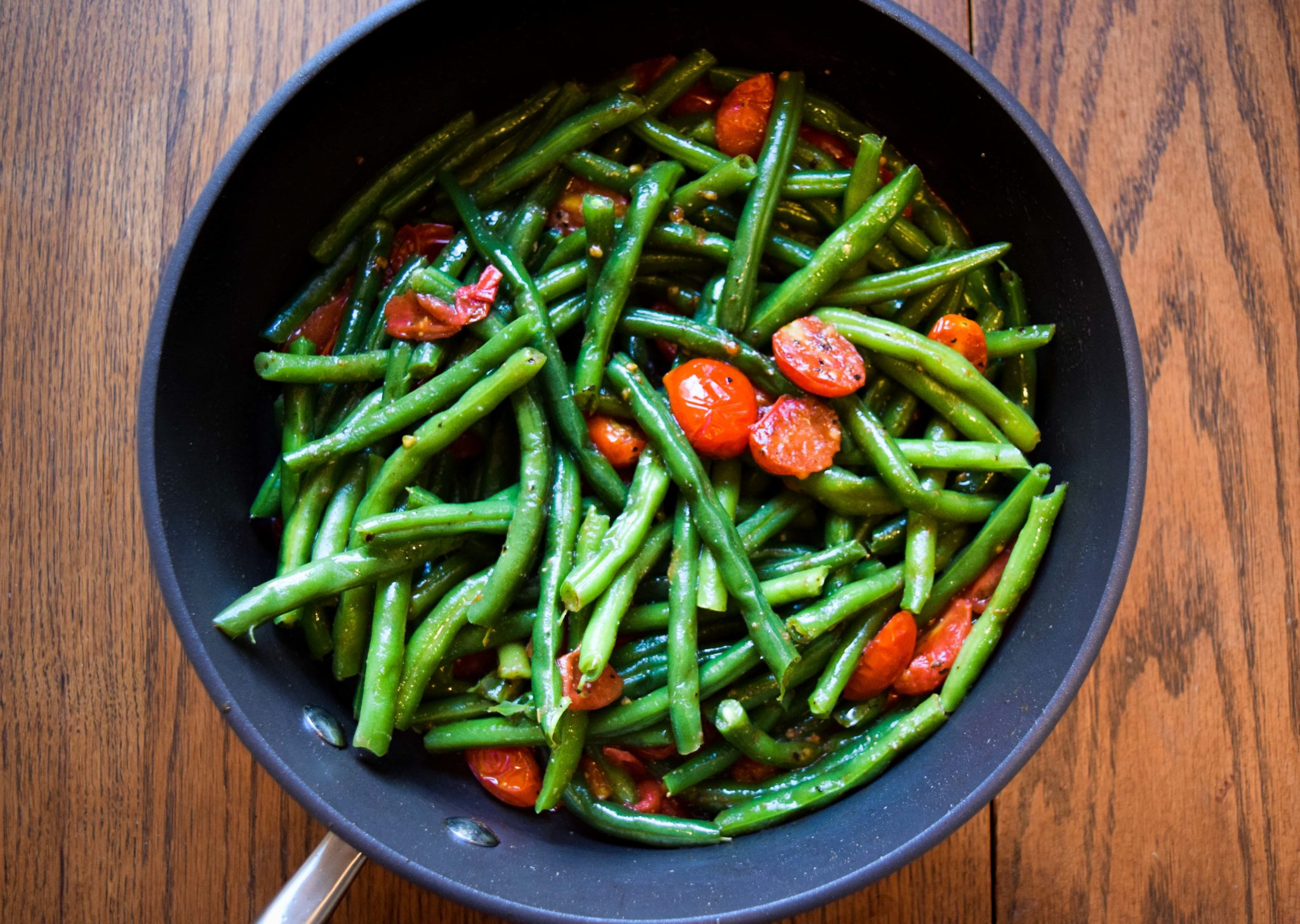 Green beans & cherry tomatoes