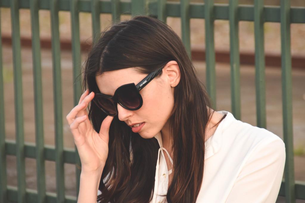 Classic Cat Eye Sunglasses + Casual Professional Look
