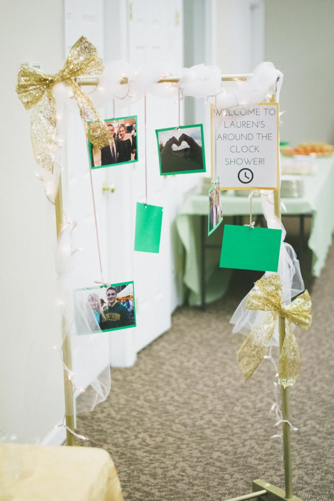 Green and Gold Bridal Shower