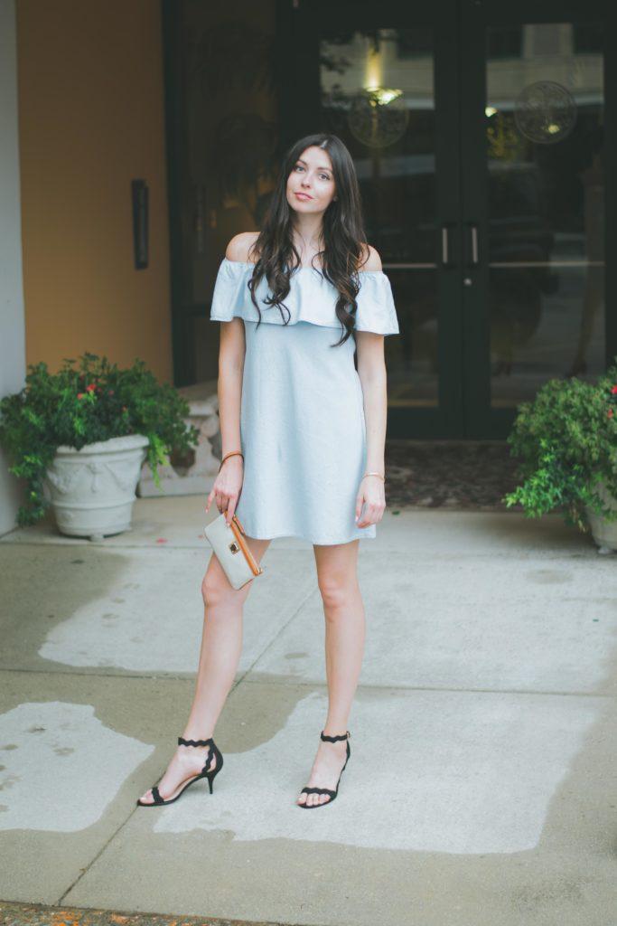 Off the shoulder ruffle dress