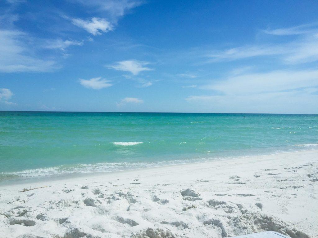 Gorgeous white sand of Pensacola Beach.