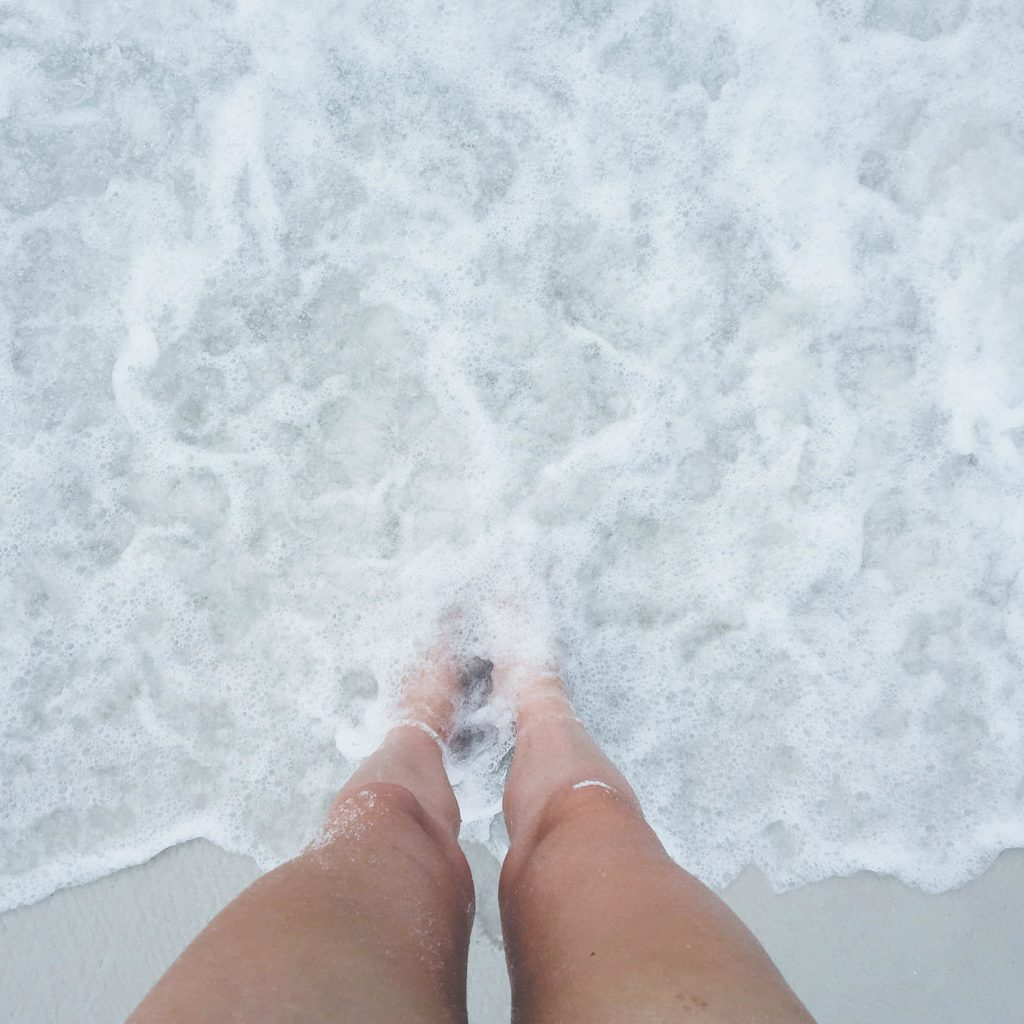 Toes in the sand at Pensacola Beach