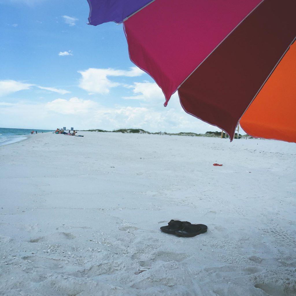 Umbrella and Pensacola Beach