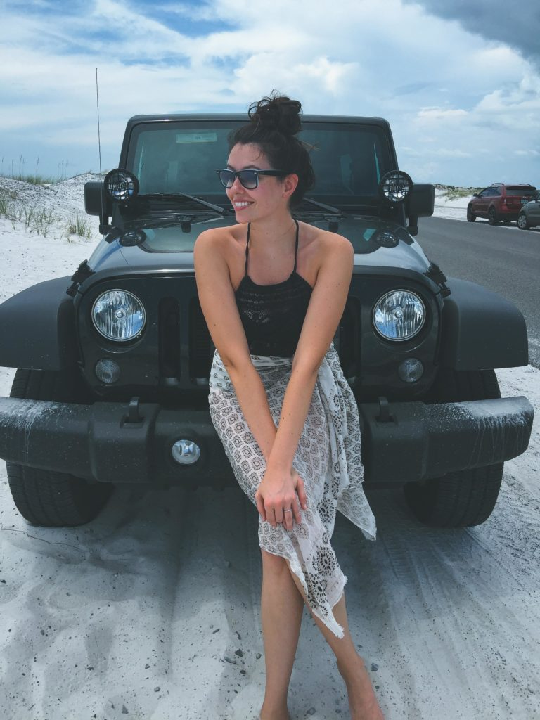 Beachside chillin with a Jeep.