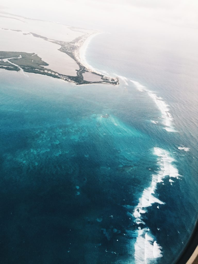 the view above of Cancun