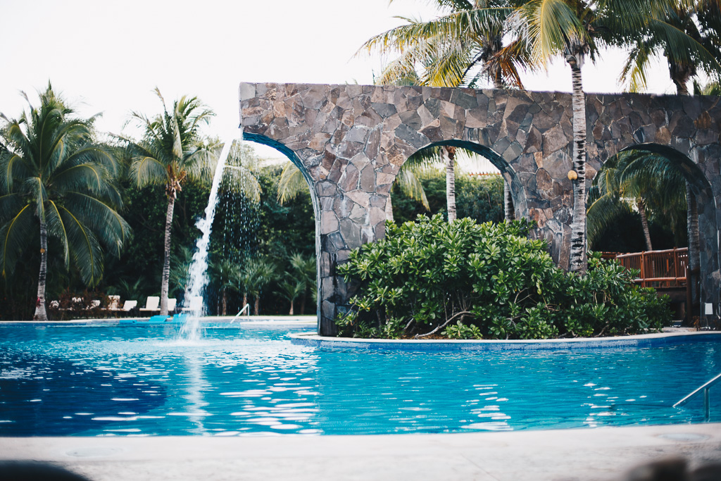 the pool at Valentin Imperial Maya