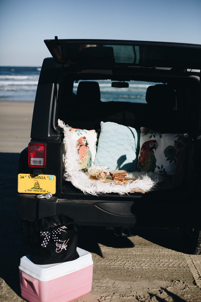 picnic in the jeep