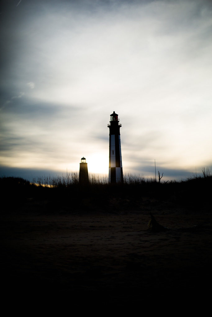 the two lighthouses at cape henry