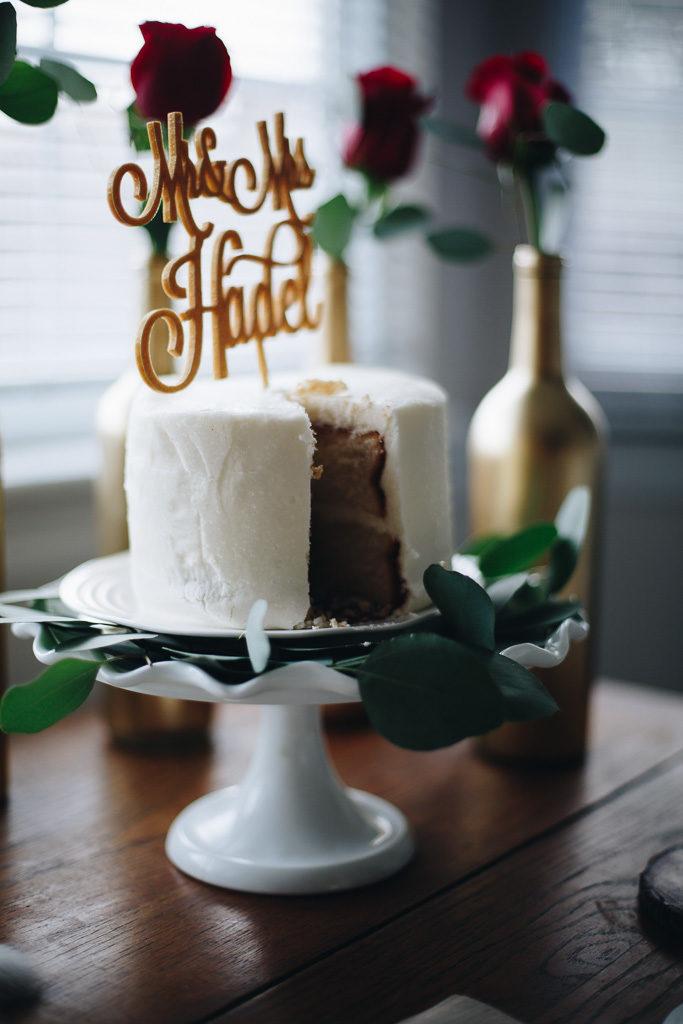 cake with eucalyptus
