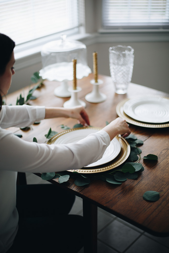a DIY glam tablescape