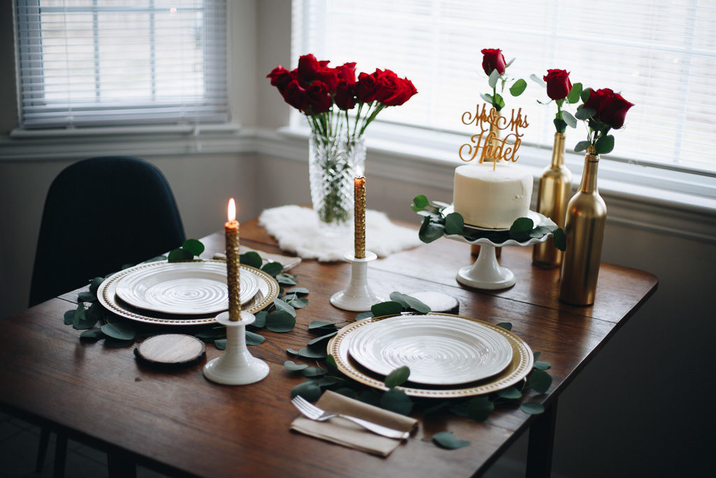 glamorous valentine tablescape