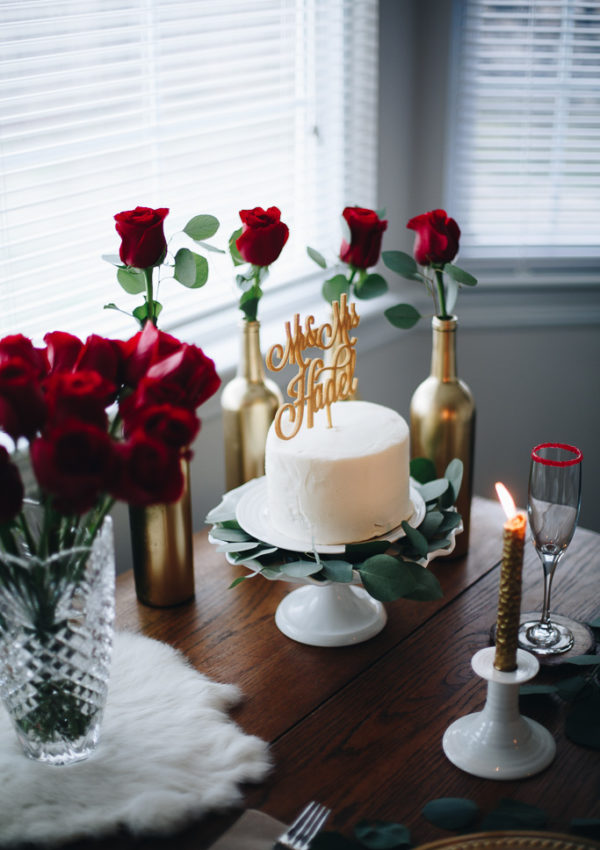 A Glam Garden Valentine Tablescape