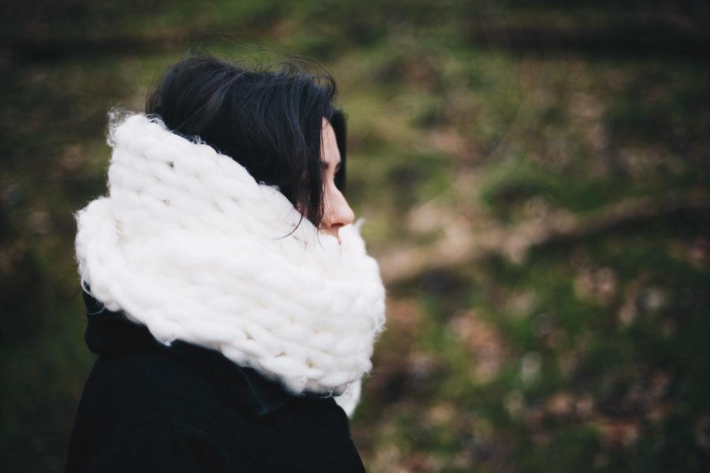 oversized cozy scarf