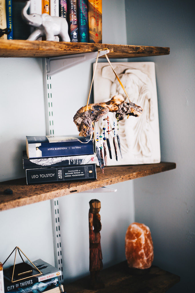 boho book shelves