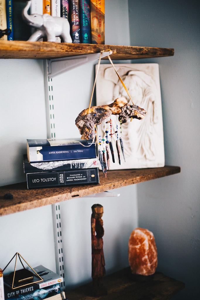 boho book shelves
