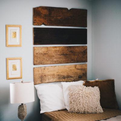 Eclectic Rustic Bedroom