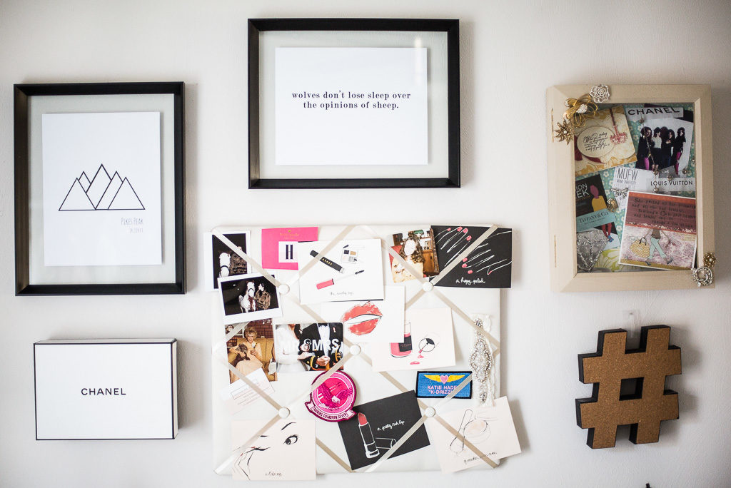 fashion office gallery wall