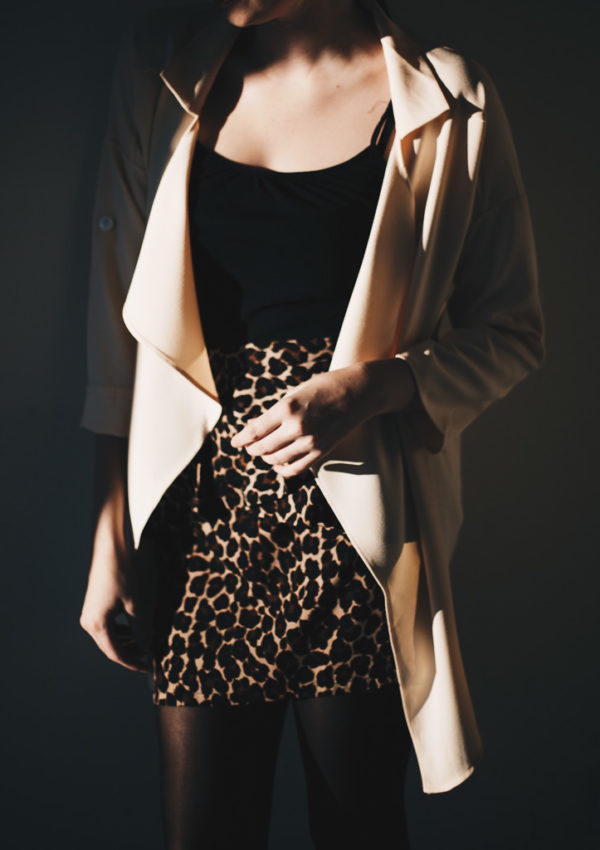 Neutrals and a Leopard Skirt