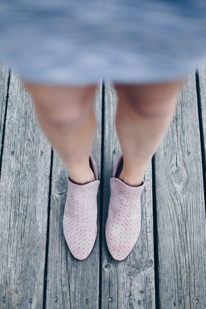 pink spring booties
