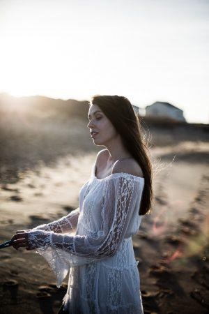 lace white beach dress