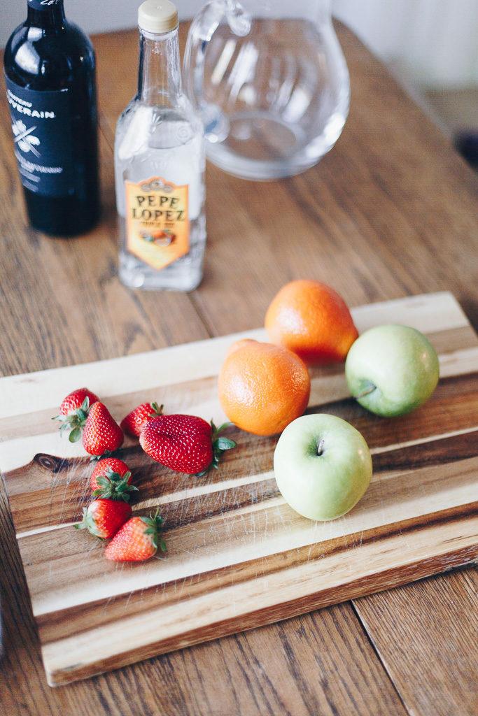 the essentials for summer sangria