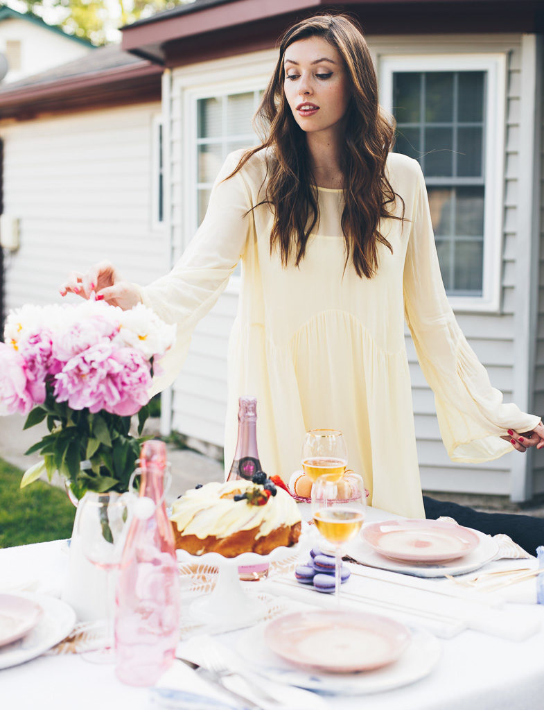 anthropologie yellow dress