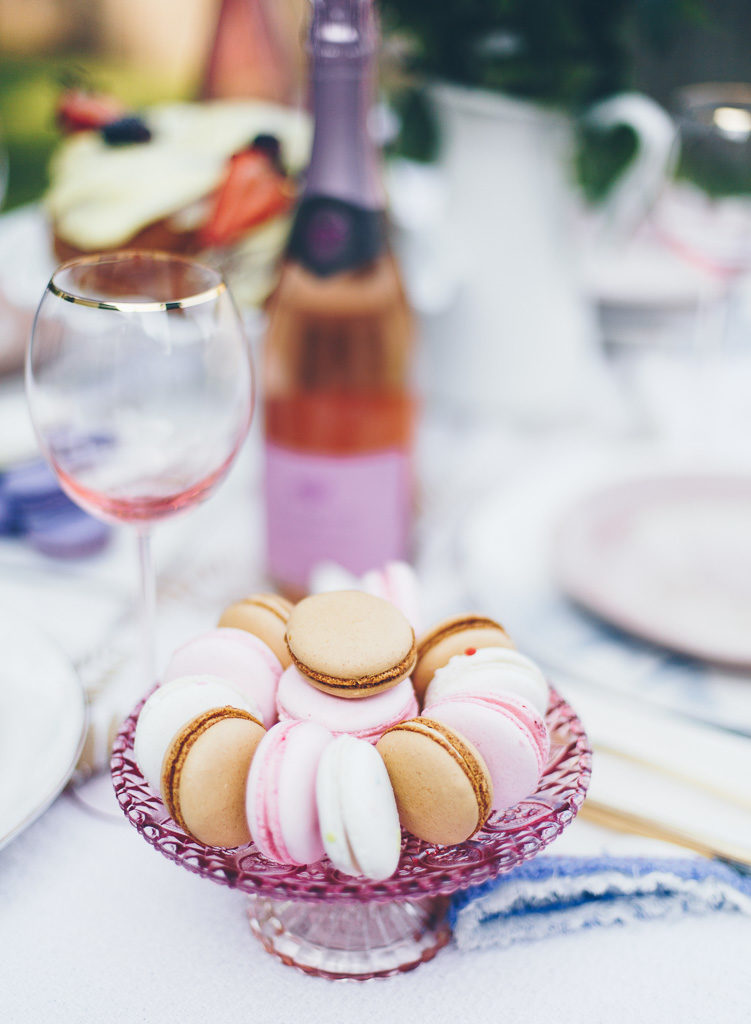 an array of macarons