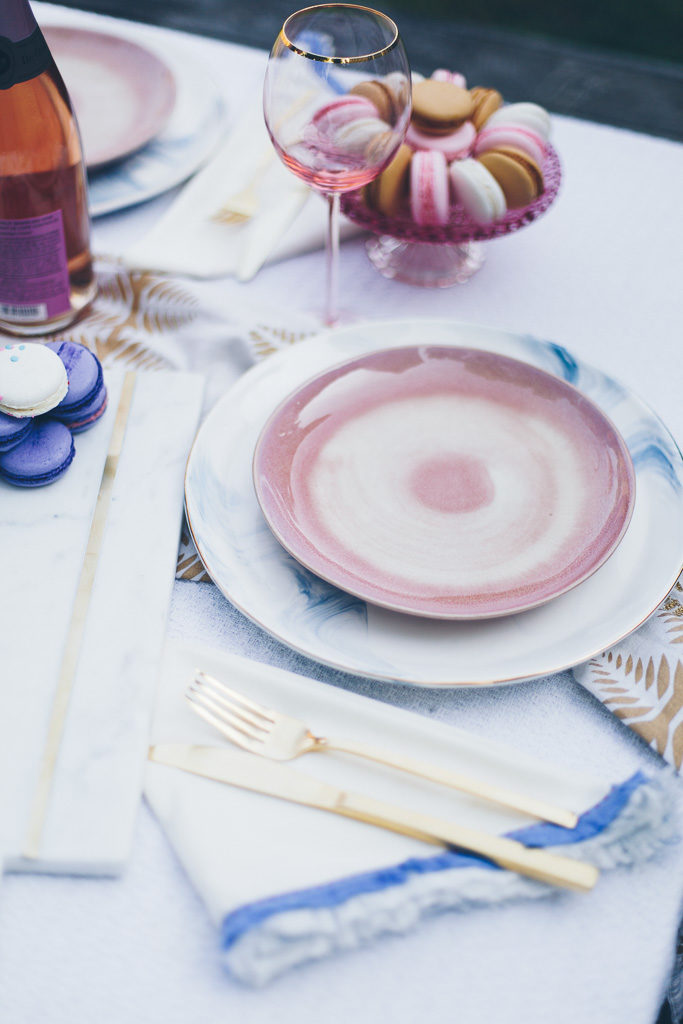 pink plates from anthropologie