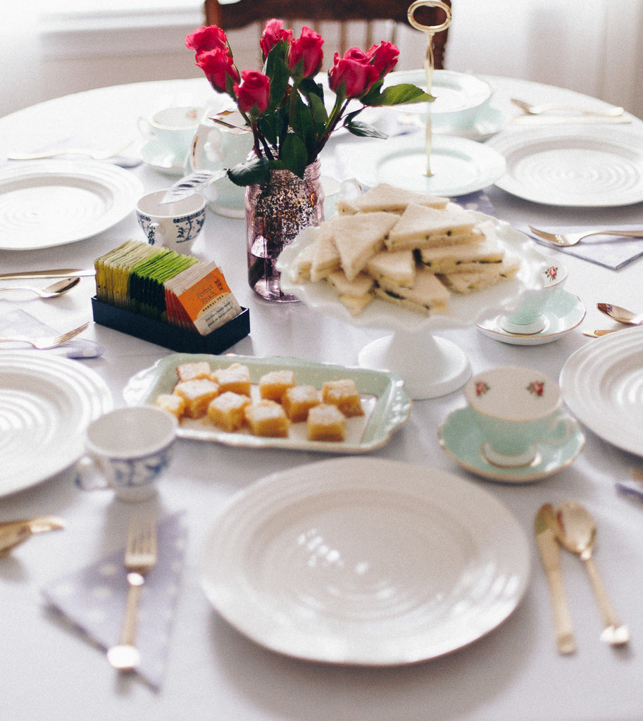 Tea part table setting