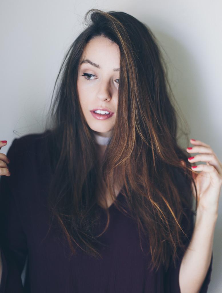 thick balayage hair