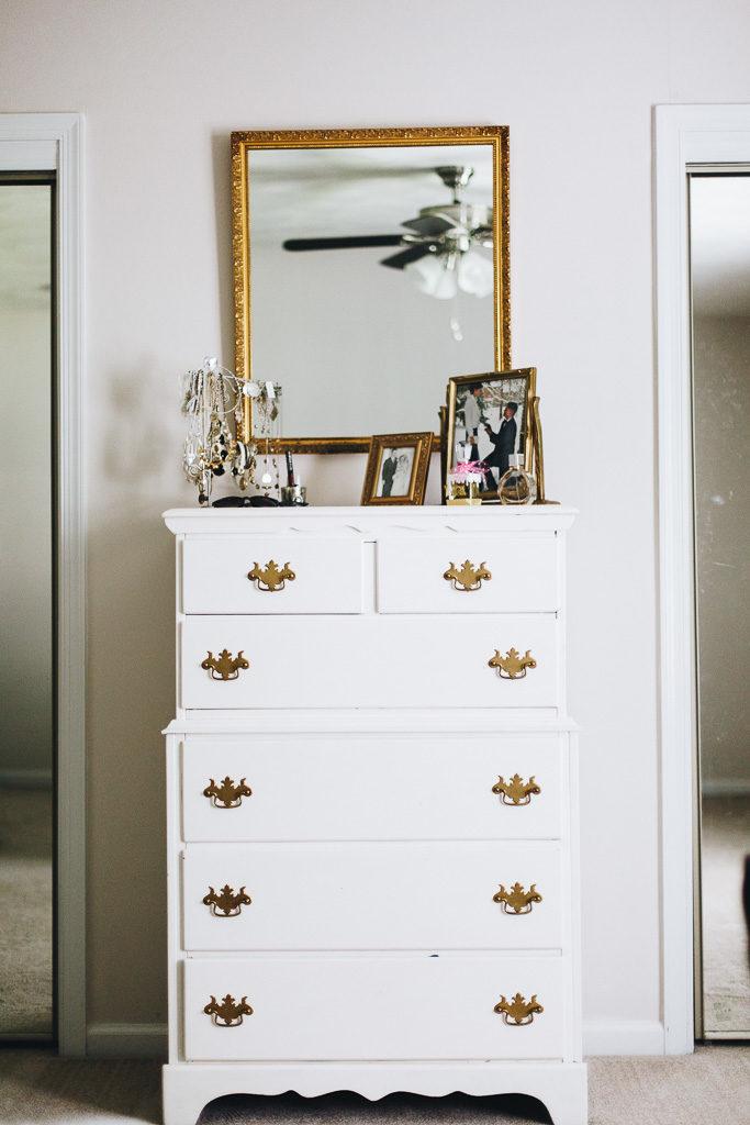 chic white dresser