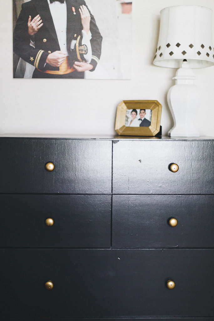 charcoal grey and gold
