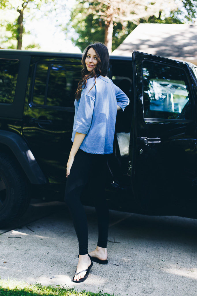 comfy blue sweater