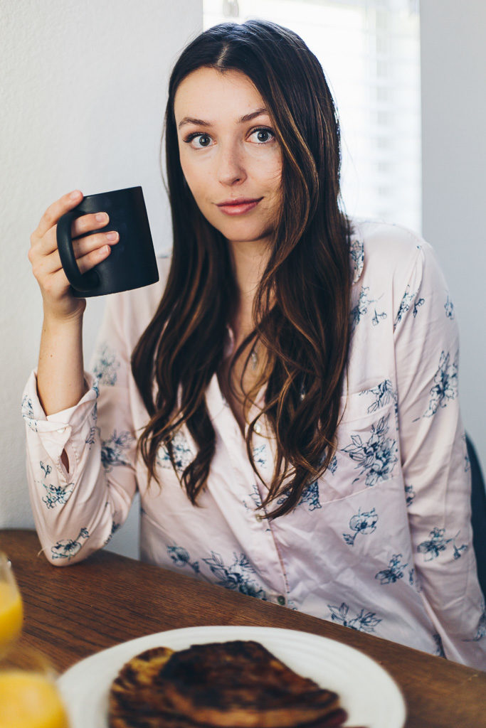 girl and her coffee