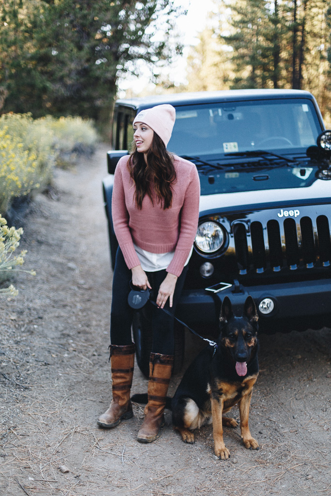 a girl and her jeep