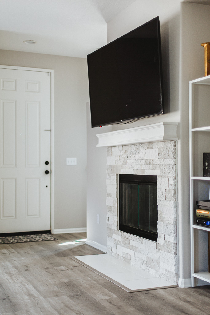 Diy Stone Fireplace Reveal Lots Of Before After Pictures